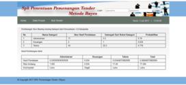 Source Code Sistem Pendukung Keputusan Metode Bayes
