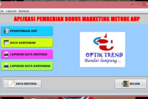 Aplikasi SPK Menggunakan Java