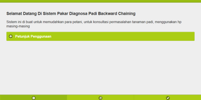 "Sistem Pakar Diagnosa Tanaman Padi Metode ""Backward Chaining"""