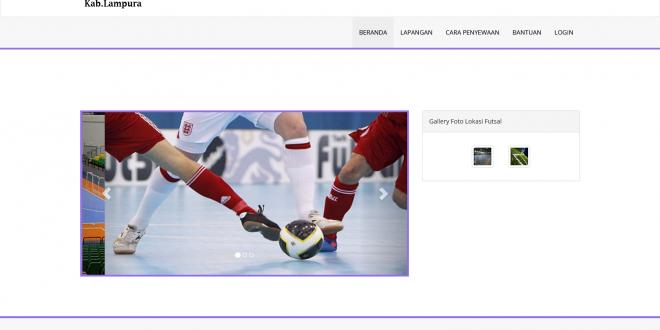 Sistem Informasi Geografis  Lapangan Futsal Berbasis Web